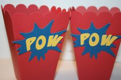 20 Superman Party Boxes by EmbellishedPaper on Etsy, $40.00