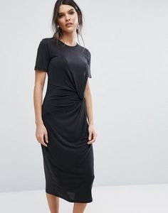Selected Femme Jersey Twist Dress