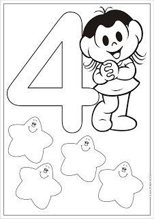 Portal Escola Numeros Turma Da Monica Para Colorir Pintar