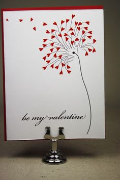 hearts blowing off tree/cool valentines card.sentiment could say: 'Valentine, how much I love you just blows me away! Homemade Valentines, Valentine Day Crafts, Love Valentines, Hand Made Greeting Cards, Making Greeting Cards, Love Cards, Diy Cards, Tarjetas Diy, Card Sentiments