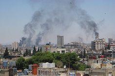 Forças sírias bombardeiam Aleppo e Damasco