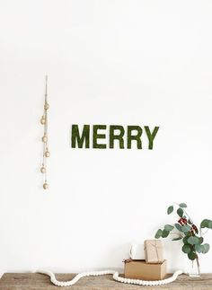 Merry Moss Wall Letters /themerrythought/