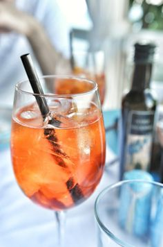 Spritz time at Il Riccio Restaurant, Anacapri, Italy