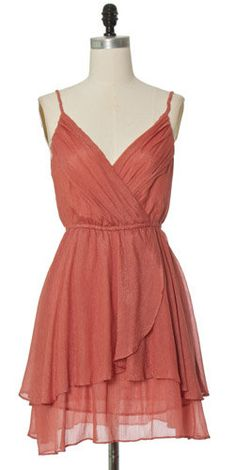 salmon colored dress