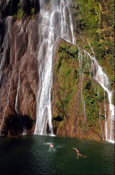 boca da onca waterfall on a Brazilian Tour
