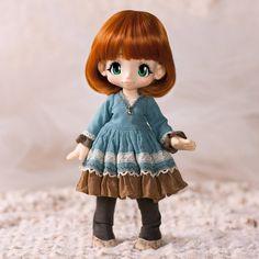 Preview! Kikipop dress with tights. #kikipop #azonejp #azonedoll #azone #kinokojuice #doll #dollstagram #dollsofinstagram #dolls #toylovers #toycollector #toystagram #bjd #sewing #handmade #dollclothes #darlingclover #bjddoll #balljointeddoll
