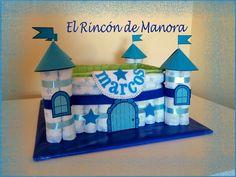 Castillo de pañales para Marcos