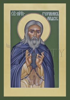 "St. Herman of Alaska | Catholic Christian Religious Art - Icon by Br. Robert Lentz, OFM - From your Trinity Stores crew, ""St. Herman please pray for us!"""
