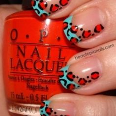 Love turquoise & red... and Leopard too!