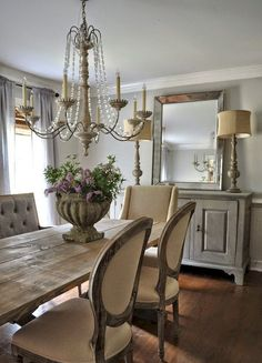 Lasting french country dining room furniture & decor ideas (36)