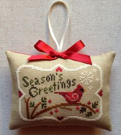 Ma reggel készült :))     Little House Needleworks: Season's Greetings