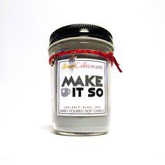 Make It So  Star Trek Inspired 8oz Soy Candle  by LemonCakesStudio