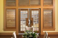Lafayette Interiors Fashions is an industry leader in decorative window shutter manufacturing including quality plantation shutters, wood shutters, and more. Custom Shutters, Wood Shutters, Window Shutters, Wood Interior Design, Wood Design, Interior Decorating, Rustic Window Treatments, Window Coverings, Remodeling Mobile Homes