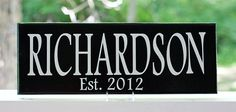 Personalized Wedding Gift Wood Sign with by TheFreckledOwlStudio, $29.95