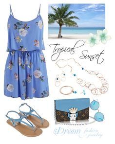 """""""Tropical Sunset - Light Blue"""" by dreamfashionjewelry ❤ liked on Polyvore"""