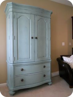 A Black Armoire Re Do With Chalk Paint