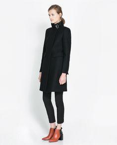 ZIP - UP COAT - Coats - Woman | ZARA United Kingdom