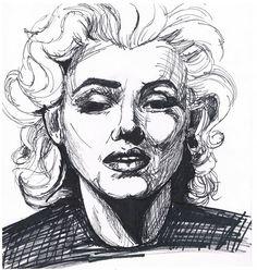 Marilyn Monroe sketch  by Katie McLaughlin