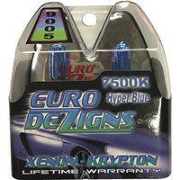 Cheap EuroDezigns 9005 White/Blue Headlights - High Beam 7500k Xenon-Krypton HID…