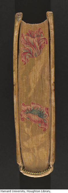 A book with its edges decorated in embossed gold... — Houghton Library