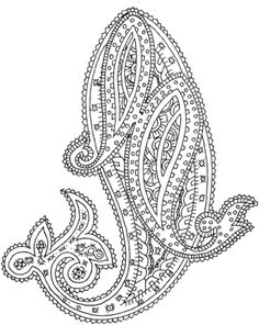 Paisley coloring page from Paisley designs category. Select from 25683 printable crafts of cartoons, nature, animals, Bible and many more. Paisley Coloring Pages, Free Adult Coloring Pages, Free Printable Coloring Pages, Paisley Embroidery, Embroidery Patterns Free, Folk Embroidery, Paisley Flower, Flower Henna, Wiccan Symbols