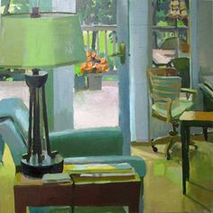 Carole Rabe 'Green Lampshade'