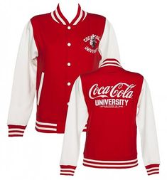 Women's Coca-Cola University Varsity Jacket from ShopCoke. Buy our Coca-Cola Outerwear for and have it delivered tomorrow! Coca Cola Life, World Of Coca Cola, Coca Cola Addiction, Coca Cola Merchandise, Coca Cola Decor, Always Coca Cola, Coca Cola Bottles, Pepsi, Swagg