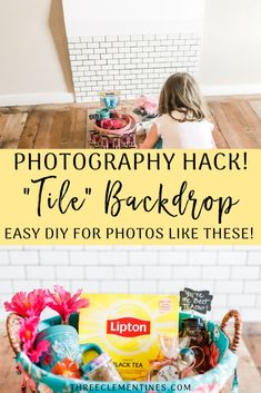 Photography Hack: DIY Tile Backdrop - Three Clementines