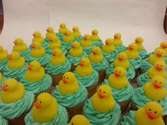 Rubber Duckies floating on a sea of cupcakes. Fun Cupcakes, Delicious Food, Sea, Desserts, Cool Cupcakes, Tailgate Desserts, Deserts, Funny Cupcakes, Yummy Food