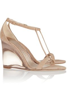 Heel measures approximately 100mm/ 4 inches Beige suede Buckle-fastening ankle strap