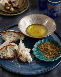 """Hazelnut Dukka Recipe  """"Dukka (from the Arabic for """"to pound"""") refers to crushed nuts and seeds traditionally eaten on bread dipped in olive oil; the blend varies from cook to cook. Yum."""
