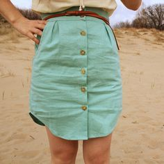 Made out of a men's dress shirt from the thrift store! >> This is the best mens shirt skirts that I have ever seen, very cute! Love the color too!
