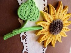 Quilling Made Easy # How to make Yellow Sun Flower Design using Paper Art Quilling -Paper Quilling - YouTube