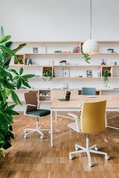 Design Studio Office, Office Space Design, Home Office Space, Office Workspace, Office Interior Design, Office Interiors, Modern Office Decor, Contemporary Office, Creative Office Space