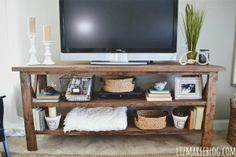 handmade rustic tv console