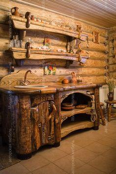 5 Portentous Useful Ideas: Rustic Diy Shelf bright rustic living room.Rustic Wall Decor Joanna Gaines rustic home office. Rustic Log Furniture, Wood Furniture, Rustic Chair, Rustic Table, Furniture Plans, Rustic Bathrooms, Cuisines Design, Rustic Interiors, Rustic Kitchen