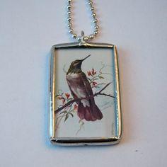 Soldered Glass Necklace  Vintage Art Soldered by mysweetseptember