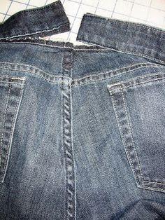 The Secret Pocket: Taking in Jeans at Center Back Waist - 3