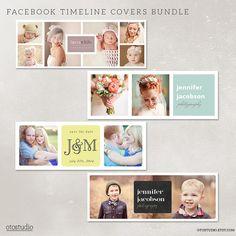 Facebook timeline cover templates bundle photo by OtoStudio, $12.00