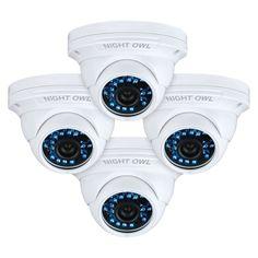 (Black) Owl CAM-4PK-DM924 1 Megapixel Surveillance Camera - 4 Pack - Co