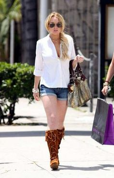 lindsay lohan in boots - Google Search