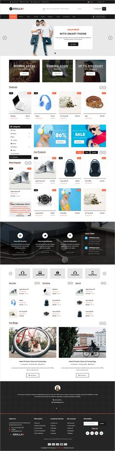 Prallax is a clean and modern design #opencart template for multipurpose #eCommerce #website with 3 homepage layouts download now➩ https://themeforest.net/item/prallaxmultipurpose-opencart-template/17812221?ref=Datasata