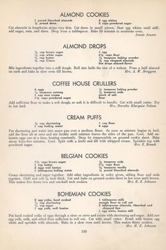 Vintage Recipes: 96 Cookie Recipes from 1940 Brownie Cookies, Cookie Desserts, Cookie Bars, Cake Cookies, Sugar Cookies, Cookie Recipes, Dessert Recipes, No Bake Cookies, Cupcakes