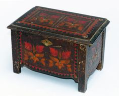 Decorative wooden box by DutchAntiques on Etsy