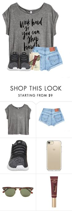 """""""rick, sweep the leg. yes sensei"""" by madiweeksss ❤ liked on Polyvore featuring H&M, adidas, Speck and Ray-Ban"""