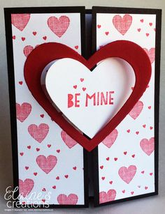 Stampin' Up! You Plus Me Heart Gate Fold Card with Video Tutorial Elaine's Creations Fancy Fold Cards, Folded Cards, Love Valentines, Valentine Day Cards, Heart Cards, Pop Up Cards, Anniversary Cards, Scrapbook Cards, Stampin Up Cards