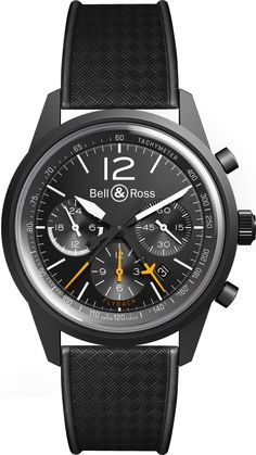 Bell & Ross BR126 Blackbird on Black Strap