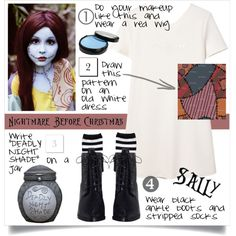 sally by ailav9 on Polyvore featuring mode, MANGO, Zimmermann, halloweencostume and DIYHalloween