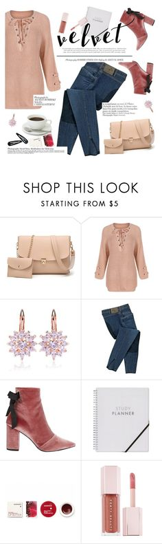 """Crushing on Velvet"" by lux-life ❤ liked on Polyvore featuring Robert Clergerie, Korres, Keurig, Puma, Anja and Accessorize"