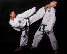 Taekwon-Do ITF girl kicking